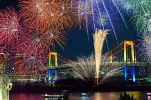 Odaiba Rainbow Fireworks 2018 <Venue: Odaibakaihin Park>