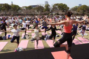 Sakura Yoga April 7th. (Sunday) <The Tokyo Rinkai Disaster Prevention Park>