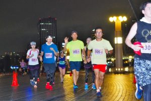 도쿄 오다이바 서머&이브닝 마라톤 =린카이 부도심 아오미 여름 마라톤=<심볼 프롬나드 공원>