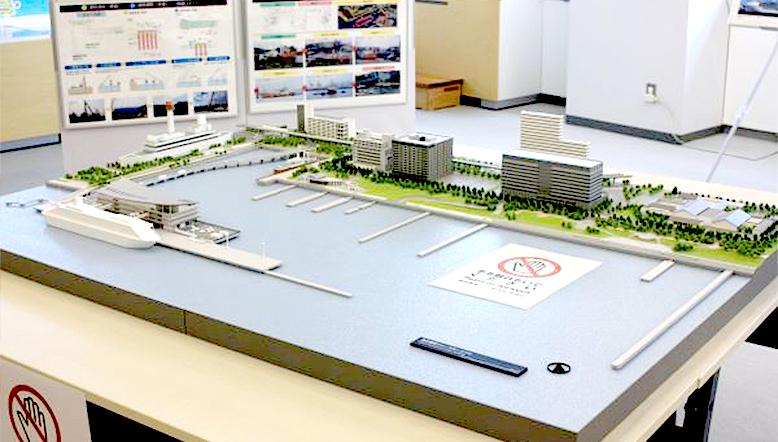 国際クルーズターミナル模型
